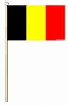 BELGIUM - HAND WAVING FLAG (MEDIUM)
